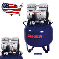 32l One For Two Silent Oil-free Noiseless Oilless Air Compressor One Driving Two