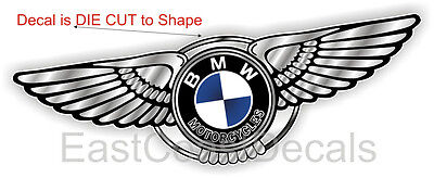 BMW Motorcycle NEW GREY WING DECAL for ANY BMW F G K L RT GT CS CL R 650