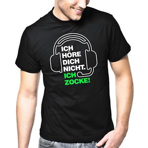 ICH-HORE-DICH-NICHT-ICH-ZOCKE-Gamer-Zocker-Daddel-Spass-Lustig-Comedy-Fun-T-Shirt