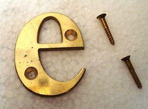 """E – 2"""" Laiton Lettres/lettre-maison Porte Sign - 2nd Alphabet-afficher Le Titre D'origine Ventes Bon Marché"""
