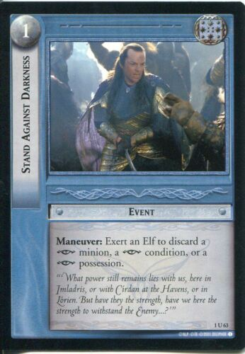 Lord Of The Rings CCG FotR Card 1.U63 Stand Against Darkness