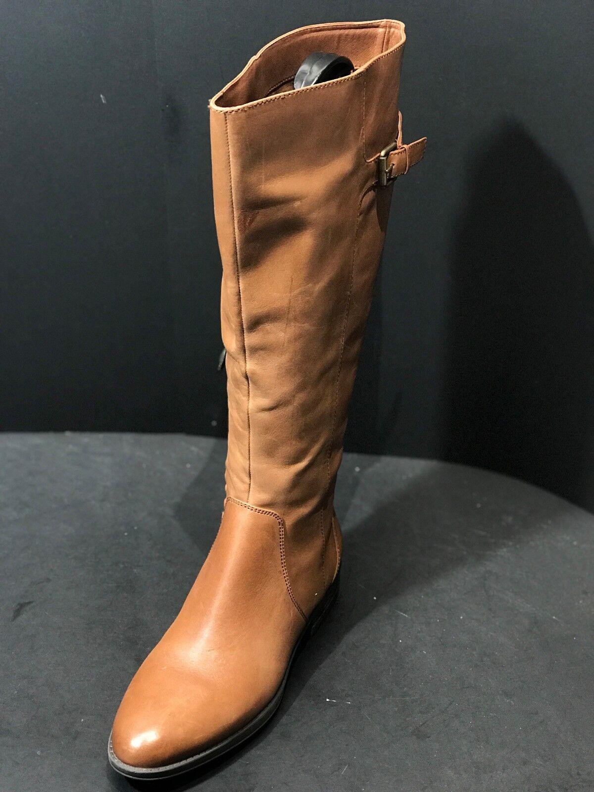 Sam Edelman Patton 2 Women's Whiskey Leather Knee High Riding Boots Size US 7 M