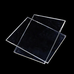 A4 Sheets Clear Acrylic Perspex Plastic Plexiglass 210mm x 300mm x 3mm Two 2