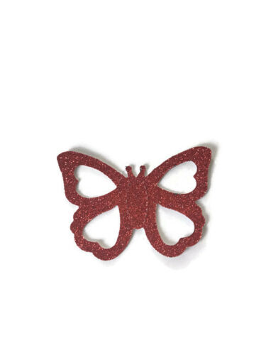 Peel /& Stick 4 Large Glitter BUTTERFLY Stickers Self Adhesive Card Making