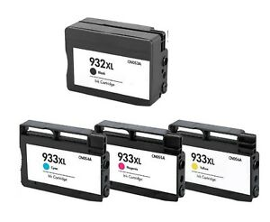4 Packpk Compatible 932xl 933xl Ink Cartridge For Hp Officejet 6100