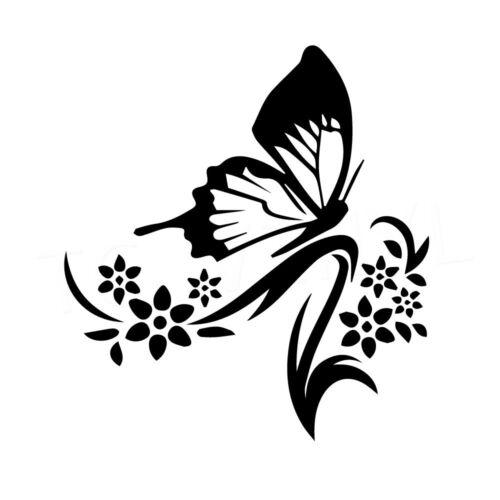"6.5/"" BUTTERFLY Vinyl Decal Sticker Car Window Wall Laptop Butterflies Bug Pretty"
