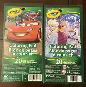 Crayola Disney Frozen Disney Cars 20 Coloring Pages Pads 71662119928 Ebay
