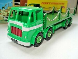 Atlas-Dinky-Supertoys-No-935-All-Green-Leyland-Flat-Chains-Truck-Mint-boxed