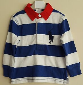 BNWT POLO RALPH LAUREN BABY BOYS LONG SLEEVE STRIPED RUGBY POLO TOP ... 2009439dc