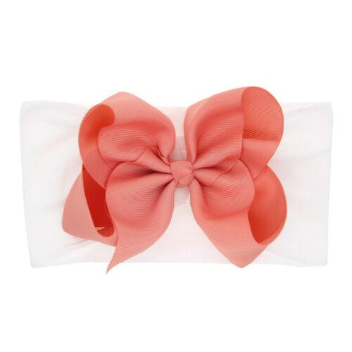 Newborn Toddler Kids Baby Girls Bow Knot Turban Headband Headwear Accessories