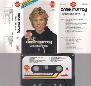 ANNE-MURRAY-Greatest-hits-UNIQUE-VERY-DUFFICULT-CASSETTE-PAPER-LABEL