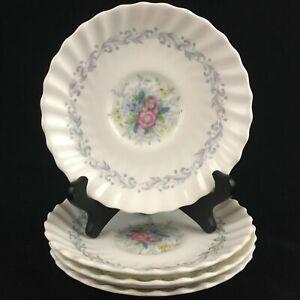 Set of 4 VTG Saucer Plates by Royal Doulton Windermere Floral 4856 England