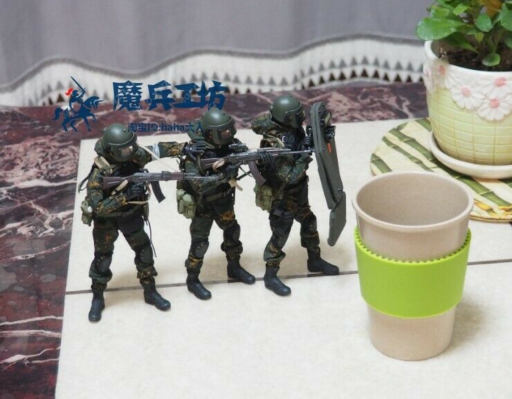 """1//12th Soldier CFTOYS Russian Alpha AK Movable Model for 6/""""SHF Figma Action Doll"""