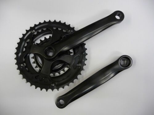 Bicycle Bike MTB Hybrid Triple Chainset 28//38//48T 170mm Crankset Black