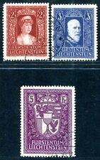 LIECHTENSTEIN 1934 140-142 gestempelt TADELLOSER SPITZENSATZ 1700€(S1528