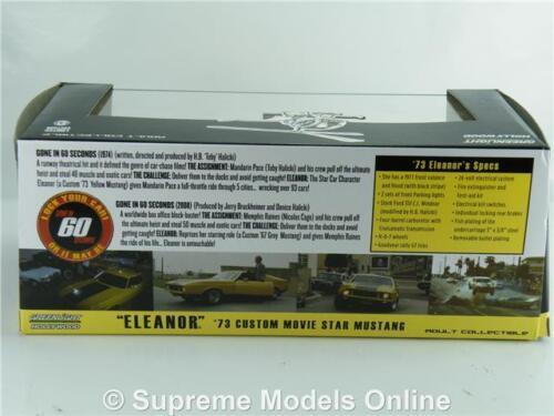 Mustang Mach 1 Gone in auto modello 60 S SCALA 1:43 Eleanor Sixty T3412Z