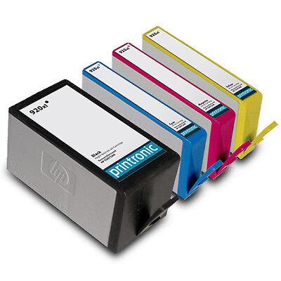 4PK HP 920xl Ink 6000 6500 6500a Plus 7000 7500a Black Cyan Magenta Yellow