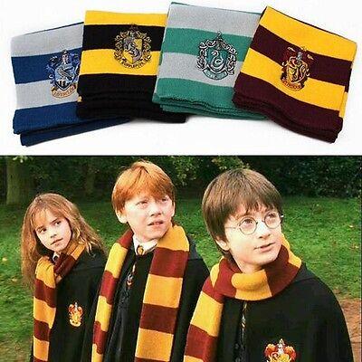 Harry Potter Cosplay Knit Costume Scarf Hat Gloves Tie Set Gryffindor Hufflepuff