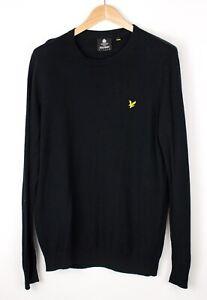 Lyle & Scott Herren Wolle Baumwolle Pullover Sweatshirt Größe L ATZ1121