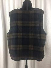 Tribal Womens Petite Plaid Printed Button Front Vest