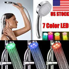 New Handheld Romantic Automatic 7 Color LED Lights Handing Bathroom Shower Head