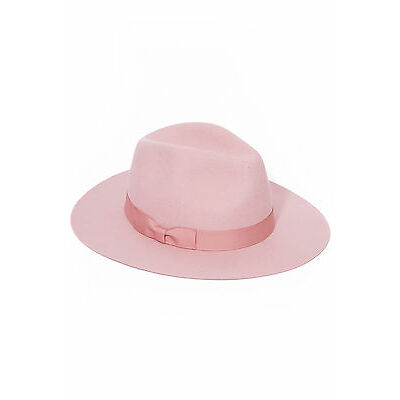 New LACK OF COLOR Womens Stardust Fedora Pastel Pink