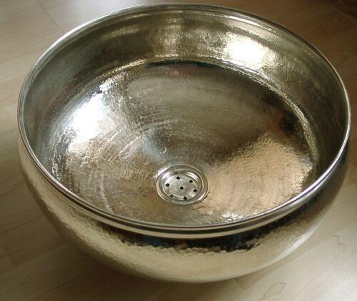 NE-waschbecken Waschbecken Handwaschbecken Aufbauwaschbecken silberfarben groß