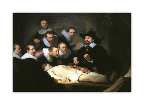 The Anatomy Lesson of Dr Nicolaes Tulp By Rembrandt Poster Wall Art Prints