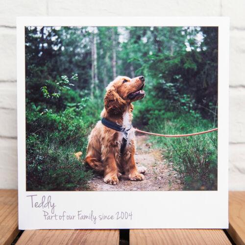 añade tu foto y texto Foto del animal doméstico Personalizado Bloques De Bloque Grueso Polaroid
