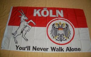 Koeln-You-039-ll-Never-Walk-Alone-Flagge-Fahne-Hissflagge-Hissfahne-150-x-90-cm