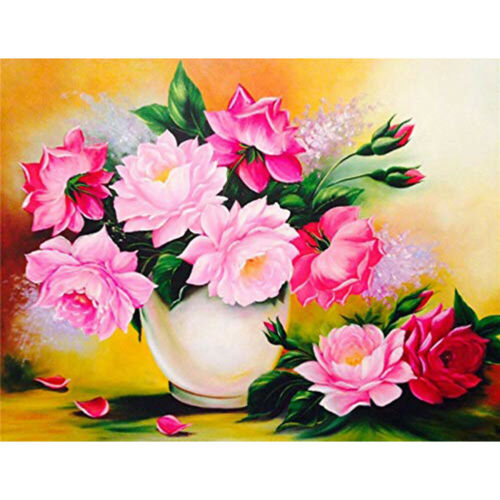 5D DIY Full Drill Diamond Painting Flower Embroidery Mosaic Kit Bedroom Decor