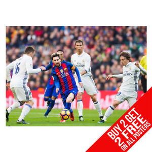 BUY 2 GET ANY 2 FREE LIONEL MESSI BARCELONA POSTER PRINT A4 A3 SIZE