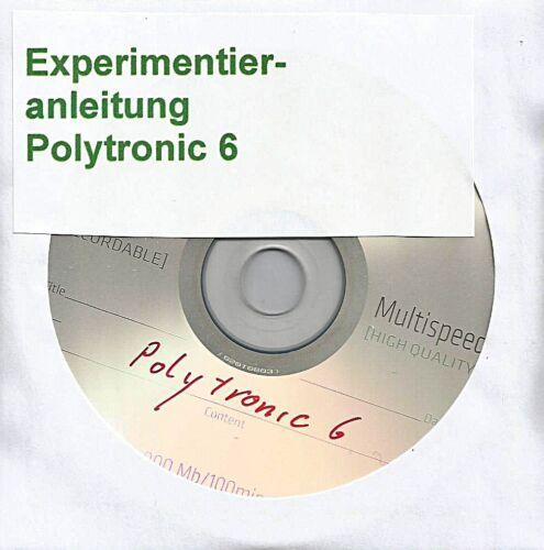 "Spielzeug 11 018 DDR Experimentierkasten Polytronic Elektronik 6 ""Anleitung Kpl. DDR & Ostalgie"