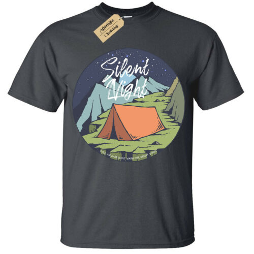 Kids Boys Girls SIlent Night T-Shirt camp tent camping
