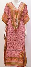 PLUS SIZE ETHNIC AFRICAN AZTEC PAISLEY PRINT KAFTAN DRESS RED 24 26 28