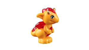 Lego Spark Baby Dragon with Trans-Red Stomach Elves Animal Minifigure