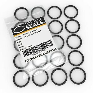 16mm OD Nitrile Rubber O-Rings 70A Shore Hardness Pack of 100 10mm x 3mm