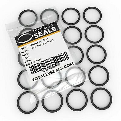 Rubber Metric O-Rings 28mm OD 25mm x 1.5mm 70A Shore Hardness Black Nitrile NBR Pack of 250