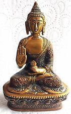 Antique Buddha Medicine Large Budha Brass 6.8'' HEAVY Meditation hand carved