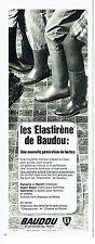 Publicité Advertising 067  1970  Les bottes vert chasseur  ou Moka Baudou