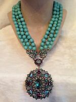 Heidi Daus Turquoise Endless Beauty Necklace