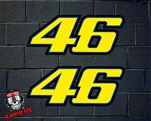 Details About Pegatina Sticker Autocollant Adesivi Aufkleber Rossi Yamaha 46 Laminated