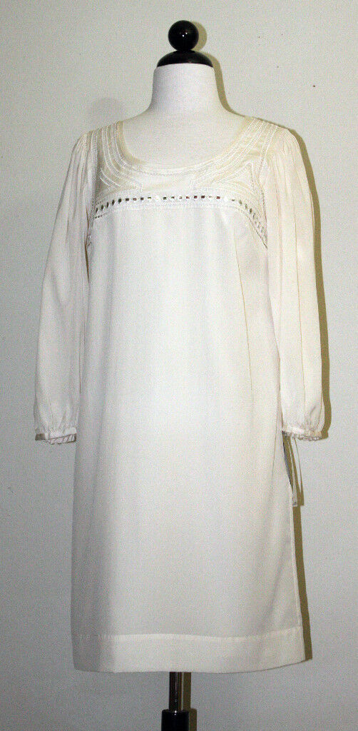 DKNY WOMENS SILK DRESS DRESS DRESS RESORT WEAR BEACH DRESS 2PIECES CREAM  NWT  345 72cc12