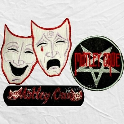 set motley crue embroidered patches theatre of pain shout at the devil word logo ebay set motley crue embroidered patches theatre of pain shout at the devil word logo ebay