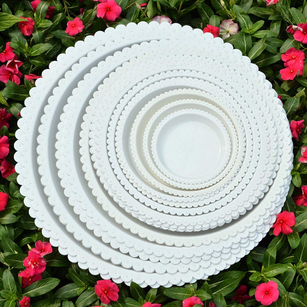 Plastic Garden Flower Pot Plant Saucers Water Tray Base Indoor Outdoor Clear