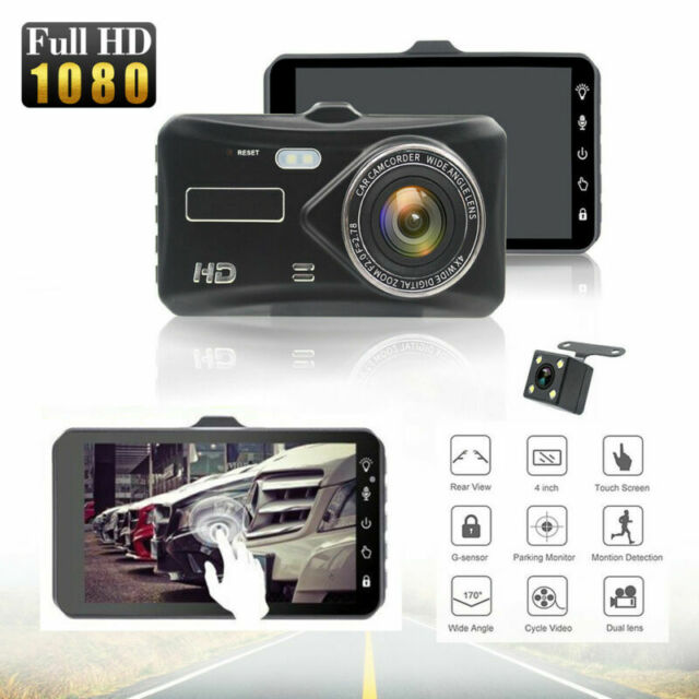 "4"" Dash Cam FHD 1080P Front and Rear Car Dashboard Camera 170° DVR Recorder"