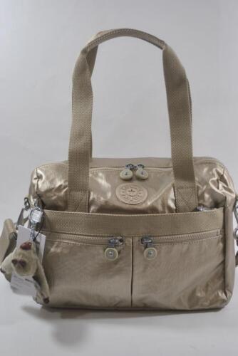New With Tag Kipling KLARA GM Shoulder Cross body Handbag -  Champagne Metallic