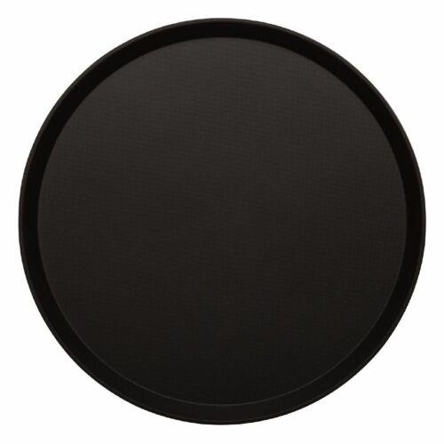 DB004 Cambro Treadlite Fibreglass Round Non-Slip Tray Black 405mm