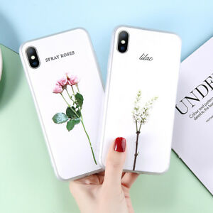 For-iPhone-XS-Max-XR-X-8-7-6s-Plus-Flower-Pattern-Shockproof-Soft-TPU-Case-Cover