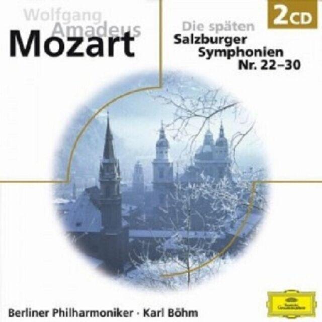KARL BÖHM/BP - MOZART-DIE SPÄTEN SALZBURGER SINFONIEN 22-30  (2 CD) NEU